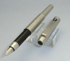 Vintage Parker 25 Fountain Pen - Steel, F Nib, with Converter