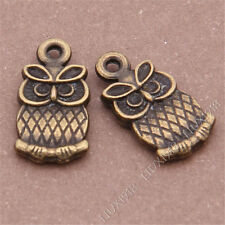 20pc Animal Owl Pendant Charms Beads Accessories Antique Bronze Wholesale B244P