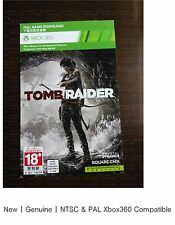 xbox 360 game : Genuine Tomb Raider download card MA 15+