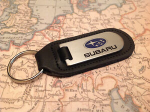 SUBARU Key Anello Etched and infilled On Leather STI WRX