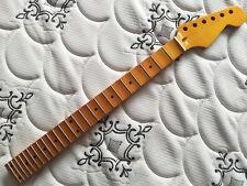 Maple Full scalloped  guitar neck 24 fret maple  fingerboard  yellow