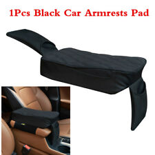 Car Universal Armrest Box Mat Interior Armrest Pad PU Leather Styling All Black