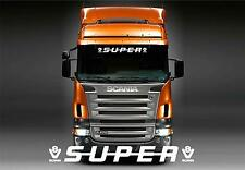 Scania Super V8 screen sticker/decal for lorry cab windscreen glass