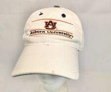 Vintage The Game Auburn University OSFA Snapback Hat White Faded Stained