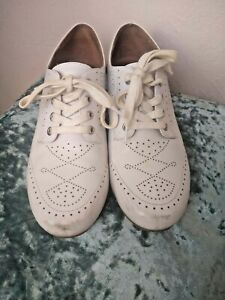 American Duchess Royal Vintage Womens 1930s 1930s Shoes Oxfords White Clair 8.5