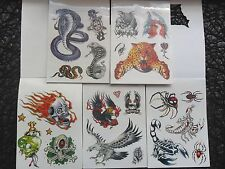 Bulk Lot 20 Mini Booklets Of TEMPORARY Tiger Scorpian Eagle Skull Asp  Tattoos