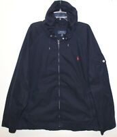 Polo Ralph Lauren Big Tall Mens Navy Blue Hooded Cotton Utility Jacket NWT 2XLT
