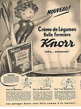 PUBLICITE ADVERTISING  1959   KNORR   potages creme de légumes