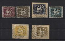 Württemberg Dienstmarken 144-149 gestempelt/Briefstücke INFLA-geprüft (B02430)