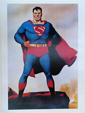 SUPERMAN POSTER Hugh J Ward image 1940's DC