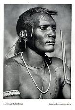 Ostafrika * Junger Massai-Krieger *  Bilddokument um 1938