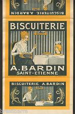 BEL EMBALLAGE DE BOITE DE BISCUITS BISCUITERIE A. BARDIN ST ETIENNE 1920