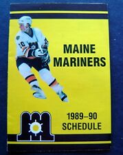 Maine Mariners Ahl Hockey 1989-90 Schedule Boston Bruins Affiliate