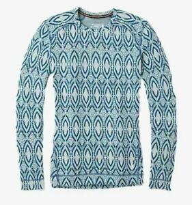(L Large) - SMARTWOOL Womens Merino 250 Wool Printed Base Layer Top Shirt