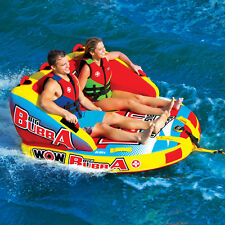 WOW Watersports Big Bubba HI-VIS 2P 2 Rider Inflatable Tube Boat Towable 17-1050