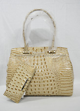 SET of Brahmin Alice Carryall Tote / Shoulder Bag + Wallet Champagne Melbourne