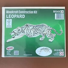 Leopard Woodcraft Construction Kit - New Animal 3D Wooden Model For KIDS/ADULTS