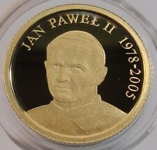 2006 FIJI 10 DOLLARS JOHN PAUL II Gold Proof  Coin 1/25 oz  + BOX RARE!!