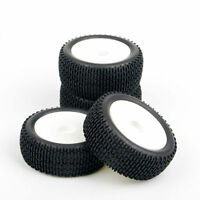 RC 4Pcs Off-Road Rubber Tires&Wheel 12mm Hex For HSP 1:10 Buggy Model Car