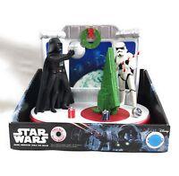 Star Wars Movie Disney Xmas Music Animated Lights Decor Darth Vader See Video