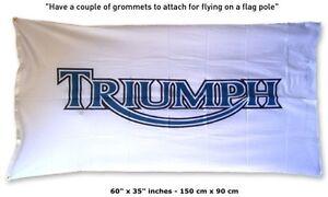 Big NEW TRIUMPH Flag Banner 3x5 feet bike motorcycle Tiger Bonnevile Daytona