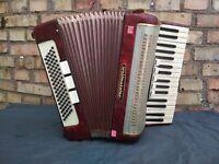 Vintage Retro German Musical Instrument Accordion Weltmeister