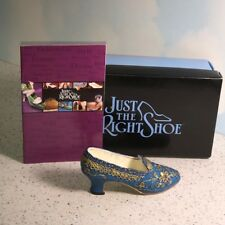 Just The Right Shoe Willitts Raine Figurine Collectible Box Empress Blue Gold
