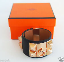 Black Epsom Rose Gold Hardware S New Authentic Hermes Cdc Collier de Chien