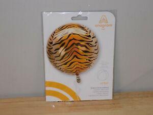 """Orange/Black Orbz 15"""" Round Decorative Balloon Birthday Party Supplies Anagram"""