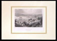 Anse de Liège 1840 Charles COUSEN-William Henry BARTLETT-Irlande Gravure