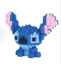 200PCS Nano Block Anime Lilo & Stitch Monster Figure Diamond Mini Building Toys