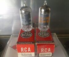 Matched Pair RCA 6BH6 Black Plate Marantz 8B Vacuum Tubes NOS