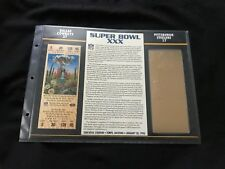 Super Bowl 30 Cowboys vs. Steelers 22kt Gold Ticket Panel - Willabee Ward (NEW)