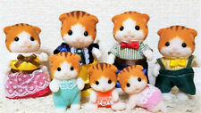 New Sylvanian Families Calico MAPLE CAT FAMILY 7 Figures Epoch Japan