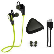 Bluetooth Earphone Headphone Q9 V4.1 + EDR Built-in Mic Earbuds Sports Gym Green