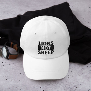 Lions Not Sheep Embroidered Baseball Cap - American Patriot Lion Unisex Dad Hat