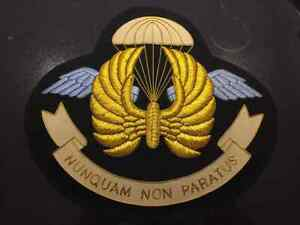 II Squadron RAF Regiment Gold Bullion Old Design Blazer Badge