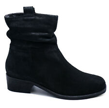 Next Boots Black Leather Suede Ankle Low Block Heel Ladies Size 6 or 6.5 RRP £55