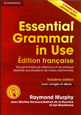 Cambridge ESSENTIAL GRAMMAR IN USE 3rd Ed w Answers &Online French FRANCAISE New