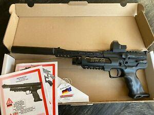 Weihrauch HW44 with moderator, two magazines, Vortex Razor red dot .177 caliber