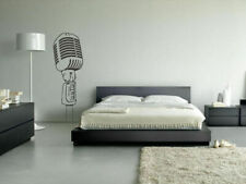 Wall Vinyl Sticker Decals Mural Music Microphone Mike (Z016)