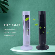 Mini USB Tower Fan No Leaf Bladeless Air Conditioner Cool Cooling Desk Décor New