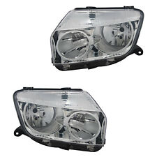 2 PHARE DACIA DUSTER H79 4/2010 A 9/2013 H1 H7 CONDUCTEUR + PASSAGER CHROME