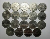 Canada 1968 - 1986 Set of Nickel Dollars 19 Different Coins Collection Lot