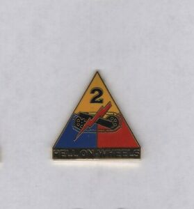 US Army 2nd Armored Division HELL ON WHEELS patch crest DUI badge V-21