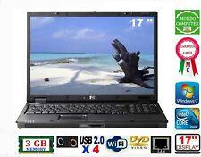 COMPUTER PORTATILE HP NX 9420  CPU INTEL CORE 2 DUO T2400 WIFI WINDOWS 7 PRO