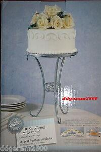 """Wilton Wedding ~ 9"""" inch Scrollwork Cake Stand NIB"""