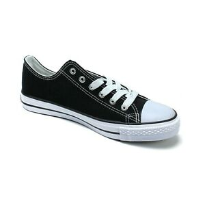 Canvas Low Top Man shoes brand new Black & All Black & Green - 2204