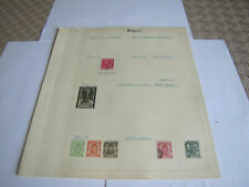 8 Album Pages of Belgium Stamps MINT/USED