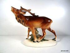 Porzellan-Figuren mit Hirsch-Motiv